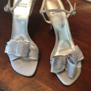 Stuart Weitzman Silver Ankle Strap Sandals 7 1/2 N